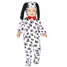 Toddler Dotty Dalmatian Dog Costume, Kids Unisex, Size: 2T-4T, Multicolor
