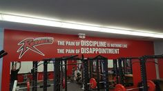 Some great new digital print and cut vinyl graphics applied to the weight room walls at Port Perry High School....go Rebels! Just in time for the students to return to class after exams. #wallgraphics  #vinylgraphics www.SpeedproDurham.ca