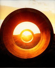 Geometry & Light Nancy Holt Land art sculpture. Sunrise/sunset