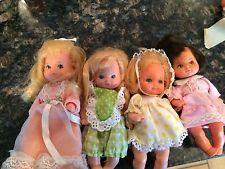 "Lot of 4 VIntage 1970s Mattel ""Rosebud"" Mini Dolls - Barbie Babies - Preowned"