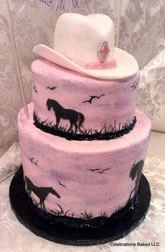 Birthday Cakes for the Birthday Girl - Design Dazzle - Cute Cowgirl Birthday Cakes Cowgirl Birthday Cakes, Cowgirl Cakes, Western Cakes, Cake Birthday, Country Birthday Cakes, Little Girl Birthday Cakes, Pretty Cakes, Beautiful Cakes, Amazing Cakes