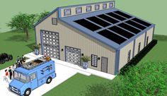 Bradley Mighty Steel RV Garage for sale, RV Shelter pricing Rv Garage, Garage House, Garage Plans, Garage Ideas, Dream Garage, Shop Buildings, Steel Buildings, Storage Buildings, Steel Building Homes
