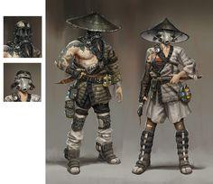 Wasteland Samurais, Hethe Srodawa on ArtStation at http://www.artstation.com/artwork/wasteland-samurais