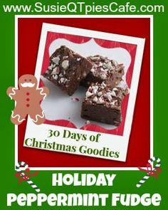 Holiday Peppermint Fudge Recipe - Christmas Goodies #christmas #christmasgoodies
