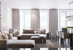 """Start a new project in the residential complex """"festival."""" The area of the apartment of 180 square meters. Interior Design Inspiration, Home Interior Design, Residential Complex, Living Spaces, Living Room, Bathroom Layout, Luxury Apartments, My Room, Behance"""