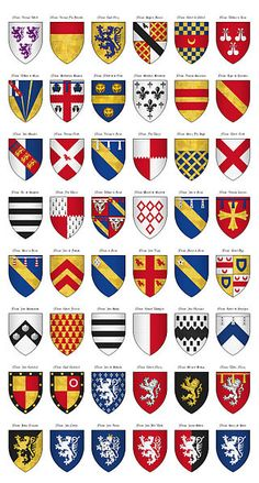 The Surrey Roll of Arms (aka Willement's Roll) - Shields 122-169 - Category:Surrey Roll - Wikimedia Commons