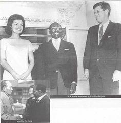 SENEGAL - President Senghor with the Kennedy's