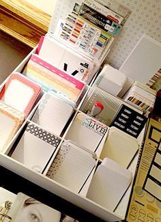 Great organization of journaling cards!