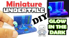 UNDERTALE MINIATURE ENVIRONMENT DIY polymer clay and resin tutorial - ho...
