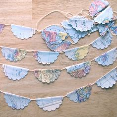 Scalloped Map Party Garland
