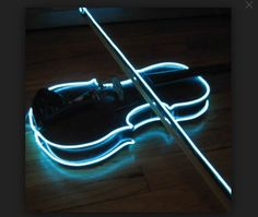 Lights on the side of a violin