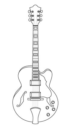 Coloriage guitare