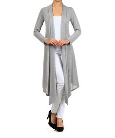 This Heather Gray Slub Open Duster is perfect! #zulilyfinds