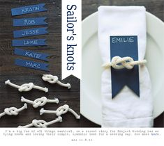 Nautical Ties For Napkins