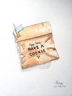 Cookie Packaging Illustration food watercolor