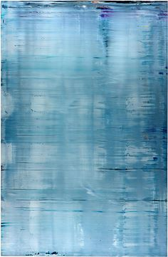 Beautiful blue painting.  I believe it's by Gerhard Richter.