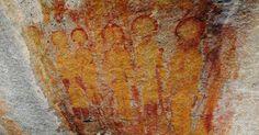 A Verdade Oculta: Seriam estas representações de alienígenas pintada...