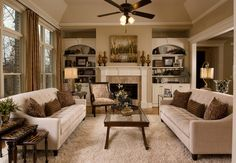 Shag Rug Dining Room to Family Room - traditional - family room - san diego - Decorating Den Interiors - Susan Sutherlin