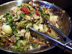 Garlicky, greens, baby. It's a Utica thang! This dish is a VERY popular Italo-American side dish where I grew up in New York. Great as a...