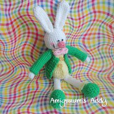 Un Conejo Feliz!! #amigurumi #crochet #tejido #handmade  #amigurumis #amigurumiaddict #amigurumicrochet #amigurumilove #hechoamano #crochetdoll #rabbit #bunny