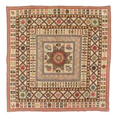 """With so many of us making """"Di Ford"""" quilts these days, I thought it would be fun to post an American Medallion quilt from the early 1800's. Beautiful!"""