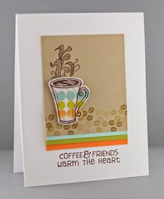 Handmade card by Lynn Mangan using the Coffee set and Cuppa Joe Die Set from Verve. #vervestamps #nationalcoffeeday #coffeeloversbloghop