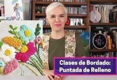 DIY aprendiendo la puntada de relleno Relleno, Decoupage, Patches, Embroidery, Make It Yourself, Crochet, Tableware, Diy, Villas