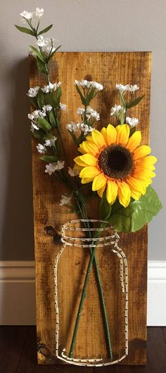 The beginners guide to string art template string art and craft mason jar flower string art sciox Gallery