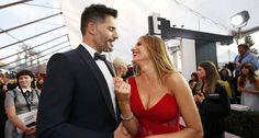 Os noivos Joe Manganiello e Sofia Vergara: graça com um palito em pleno red…