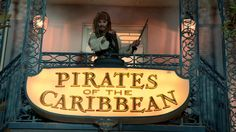 Johnny Depp surprises fans dressed as Captain Jack Sparrow at the Pirates of the Caribbean ride in Disneyland, weeks before the release of Pirates of the Caribbean: Dead Men Tell No Tales.