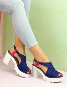 Sax Mavi Sandalet Günlük Ayakkabı | Ayakkabı | Modabenle