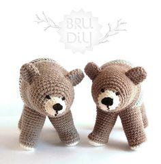 crochet bear pattern- my friends need to start having kids already so I can make them stuffed animals