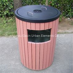 Side opening outdoor metal and reycled plastic wooden rubbish bin, View wooden rubbish bin, Gavin Product Details from Guangzhou Gavin Urban Elements Co., Ltd. on Alibaba.com