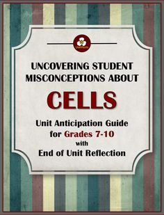Use this quick simple pre-assessment/anticipation guide to uncover student misconceptions about cells. The questions are based on research done by the American Association For The Advancement Of Science into student misconceptions, and on three decades of experience teaching science. $