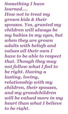 My promise to my children once they are grown adults with lives of their own.