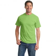 Port & Company PC61 Essential T-Shirt - Lime Green | FullSource.com