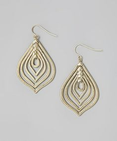 Another great find on #zulily! Gold Layered Teardrop Earrings by Global and Vine #zulilyfinds