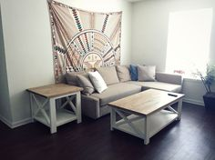 Rustic X coffee table - FIRST PROJECT!| Do It Yourself Home Projects from Ana White