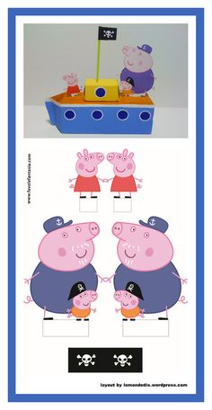 George Pig, Pig Party, Paper Toys, Birthdays, Lily, Children, Exercises, Character, Ideas Party