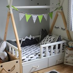 Scandi room tipi bed