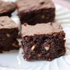 Not a fan.  The rye flour is a great addition, but the brownies behaved like a cake (4 eggs?) which means no fudge like qualities at all. Boo.  Rye-flour Hazelnut Brownies | The Kitchn