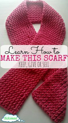If you have ever wanted to learn to knit, consider using a loom. Learn fast and start making your very own scarf to keep, give or sell.