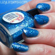 Lazy Lacquerista: Shades of Phoenix :: Paint Me Blue :: Blogger collaboration collection