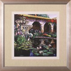 'Fountain At San Miguel II' by Clif Hadfield Framed Painting Print