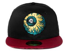 Black Red Lamour Keep Watch 59Fifty Fitted Cap by NEW ERA x MISHKA