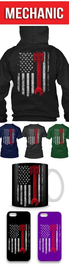 The Mechanic Flag Shirts! Click The Image To Buy It Now or Tag Someone You Want To Buy This For.  #mechanic