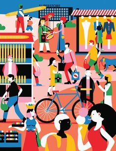 Folio illustration agency, London, UK | Kiki Ljung - bold, vector, colourful, - Illustrator