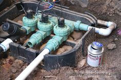 How to Install a Sprinkler System: Part 2 - Simple Practical Beautiful Sprinkler System Repair, In Ground Sprinkler System, Lawn Sprinkler System, Garden Irrigation System, Sprinkler Irrigation, Best Sprinkler, Sprinkler Valve, Sprinkler Heads, Garden Watering System