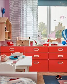 Safe travels in a children's room - IKEA Opening A Cafe, Riverside House, Mini Kitchen, Bed Base, Light Blue Color, Roller Blinds, Curtains With Blinds, Timeless Design, Storage Solutions
