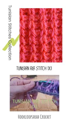 Learn and practice the lovely Tunisian rib stitch to create beautiful clothing items with it! Tunisian Crochet Patterns, C2c Crochet, Crochet Videos, Crochet Gifts, Knitting Patterns, Knitting Tutorials, Rib Stitch Knitting, Knitting Stitches, Lace Knitting